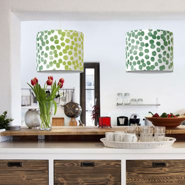 Lampadario design - Dot pattern Green Yellow