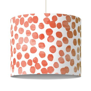 Lampadario design Dot pattern Orange Grey