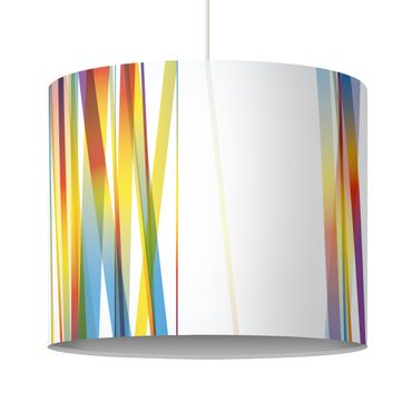 Pendant Lamp Rainbow Stripes