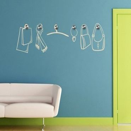 Adesivo murale appendiabiti - accessori