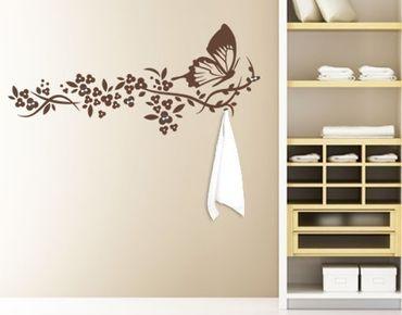 Adesivo murale appendiabiti - Schmetterlingsflug