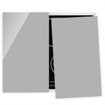 Coprifornelli in vetro - Agate Gray