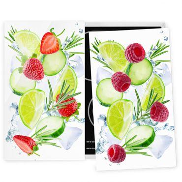 Coprifornelli in vetro - Berries And Cucumber Ice Cubes Splash