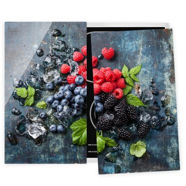 Coprifornelli in vetro - Berry Mix With Ice Cubes Wood