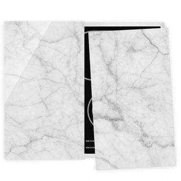 Coprifornelli in vetro - Marmo Bianco Carrara