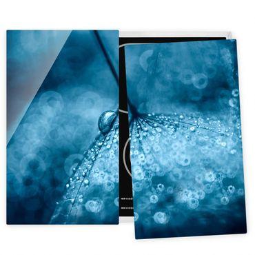Coprifornelli in vetro - Tarassaco Blu In The Rain
