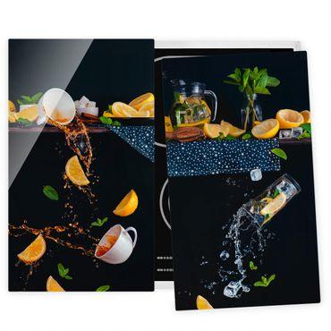 Coprifornelli in vetro - Citrus Splash - 52x60cm