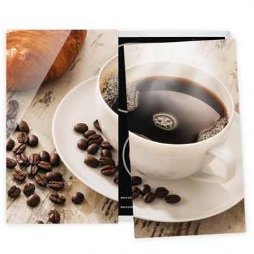 Coprifornelli in vetro - Steaming Coffee Cup With Coffee Beans