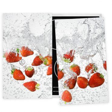 Coprifornelli in vetro - Fresh Strawberries In Water