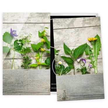 Coprifornelli in vetro - Medicinal And Wild Herbs