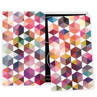 Coprifornelli in vetro - Hexagon Facets