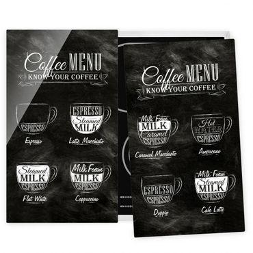 Coprifornelli in vetro - Coffees Chalkboard