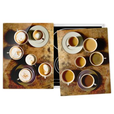 Coprifornelli in vetro - Coffee Cups - 52x80cm