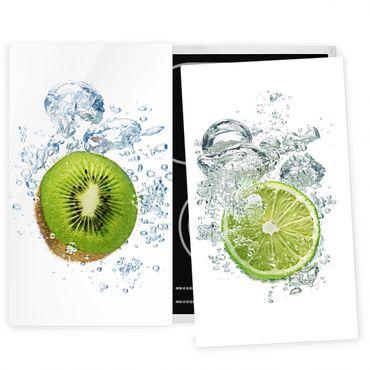 Coprifornelli in vetro - Kiwi And Lime Bubbles