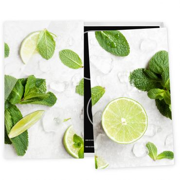 Coprifornelli in vetro - Lime Mint On Ice