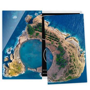 Coprifornelli in vetro - Veduta aerea - L'Islanda di Vila Franca do Campo