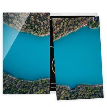 Coprifornelli in vetro - Veduta aerea - Deep Blue Sea