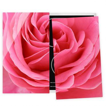Coprifornelli in vetro - Lustful Pink Rose