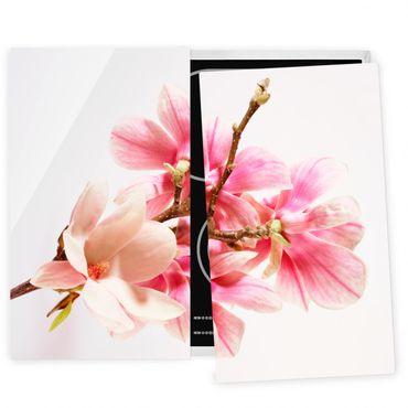 Coprifornelli in vetro - Magnolia Blossoms
