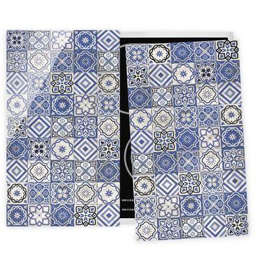 Coprifornelli in vetro - Mediterranean Tile Pattern