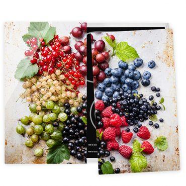 Coprifornelli in vetro - Mixture Of Berries On Metal - 52x60cm