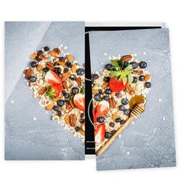 Coprifornelli in vetro - Cereal Heart