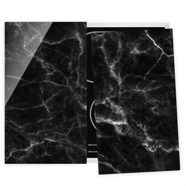 Coprifornelli in vetro - Nero Carrara