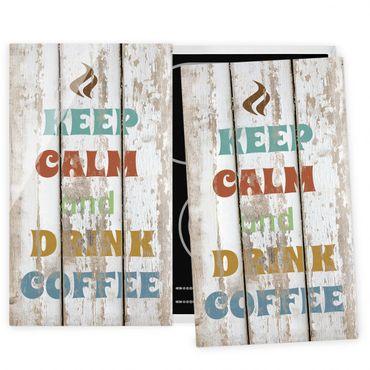 Coprifornelli in vetro - No.Rs184 Drink Coffee - 52x60cm