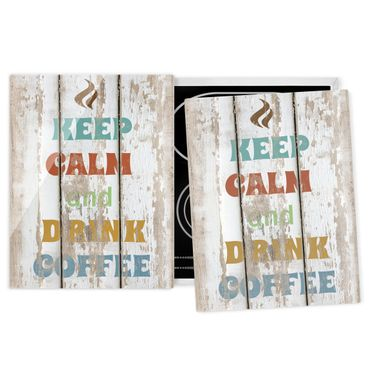 Coprifornelli in vetro - No.Rs184 Drink Coffee - 52x80cm