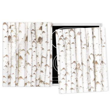 Coprifornelli in vetro - Birch Wall - 52x80cm