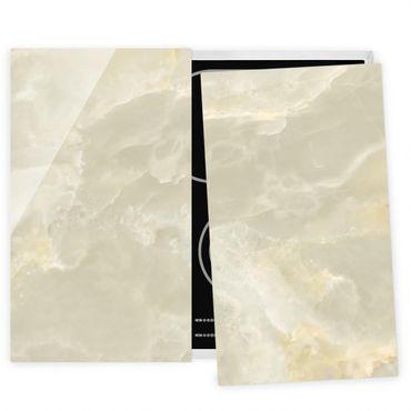 Coprifornelli in vetro - Onyx Marble Cream