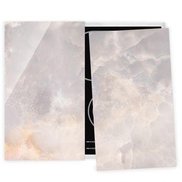 Coprifornelli in vetro - Onyx Marble Gray