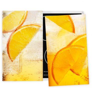 Coprifornelli in vetro - Orange On Ice