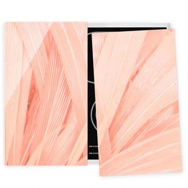 Coprifornelli in vetro - Palm Leaves Pink