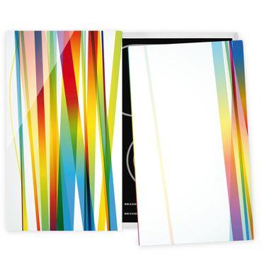 Coprifornelli in vetro - Rainbow Stripes