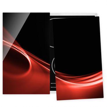 Coprifornelli in vetro - Red Wave
