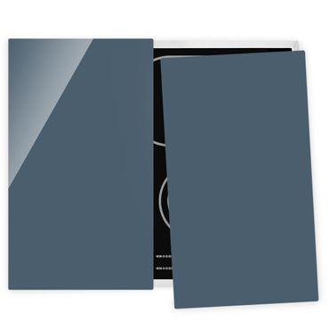 Coprifornelli in vetro - Slate Blue
