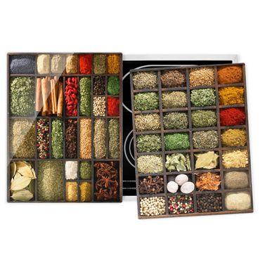 Coprifornelli in vetro - Seed Box Spices - 52x80cm