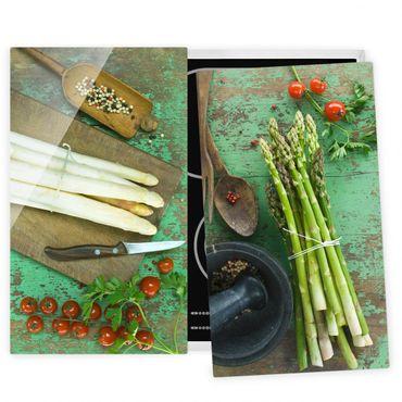 Coprifornelli in vetro - Asparagus Compositions - 52x60cm