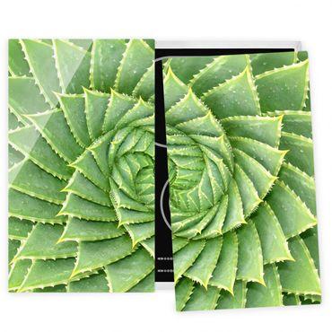 Coprifornelli in vetro - Spiral Aloe