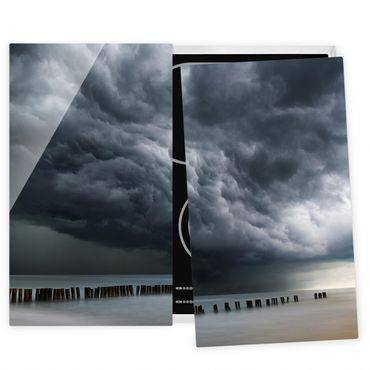 Coprifornelli in vetro - Nubi di tempesta sul Mar Baltico