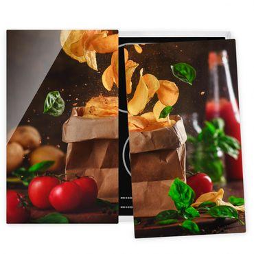 Coprifornelli in vetro - Tomato Basil Snack - 52x60cm