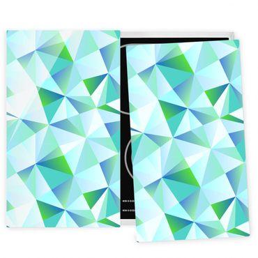 Coprifornelli in vetro - Vector Pattern Turquoise