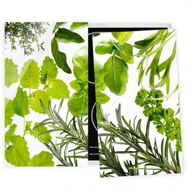Coprifornelli in vetro - Various Herbs