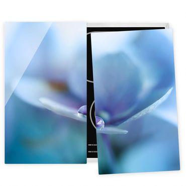 Coprifornelli in vetro - Gocce Ortensie