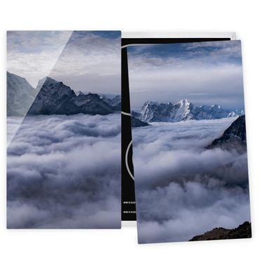 Coprifornelli in vetro - Mare di nubi in Himalaya