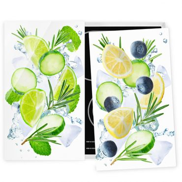 Coprifornelli in vetro - Citrus Meets Cucumber Ice Cubes Splash