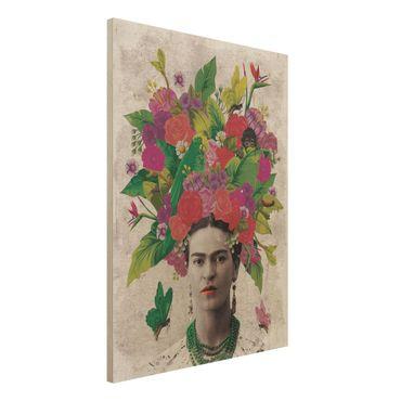 Quadro in legno -Frida Kahlo - Flower Portrait- Verticale 3:4