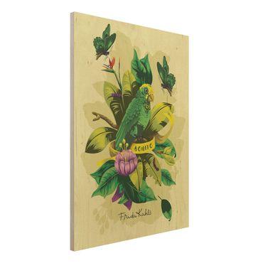 Quadro in legno -Frida Kahlo - Bonito- Verticale 3:4