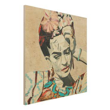 Quadro in legno -Frida Kahlo - Collage No.1- Quadrato 1:1